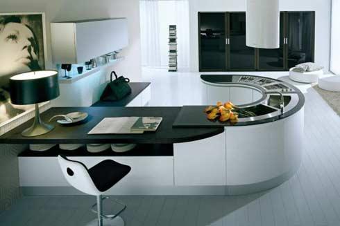 Thiết kế bàn nhà bếp theo phong cách hoàn toàn mới lạ